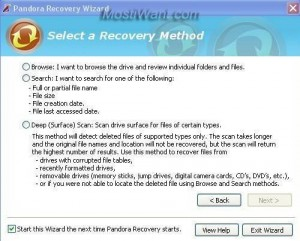 Select Recovery Method
