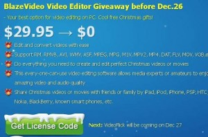 BlazeVideo Video Editor Free Giveaway