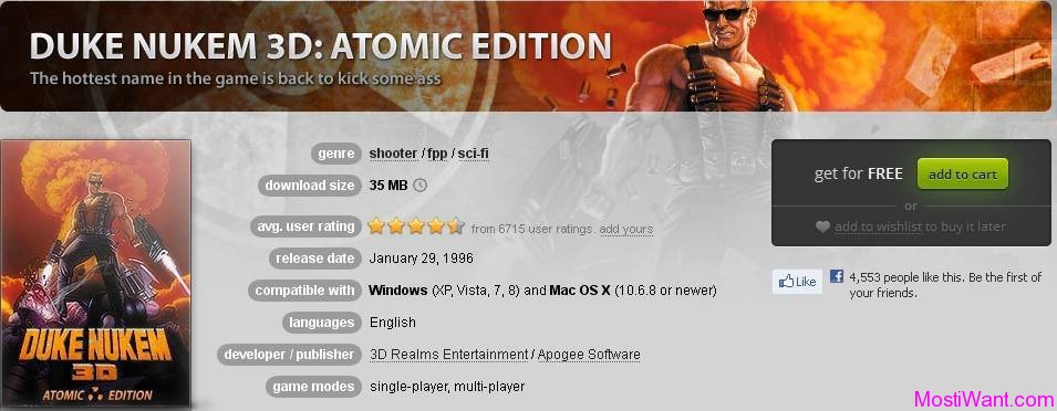 Duke Nukem 3D - Atomic Edition Free