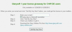 Glary Utilities Pro License Giveaway