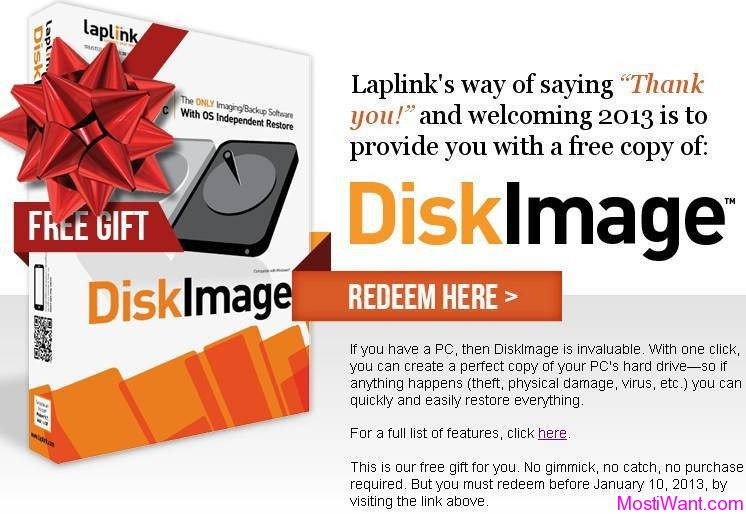 Laplink DiskImage Professional Edition Giveaway