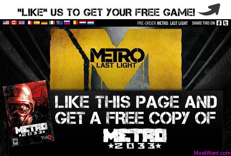 Metro 2033 PC Game Free Giveaway