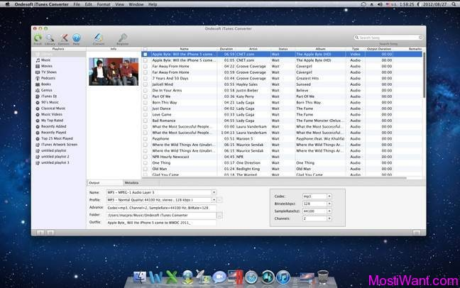 Ondesoft iTunes Converter For Mac