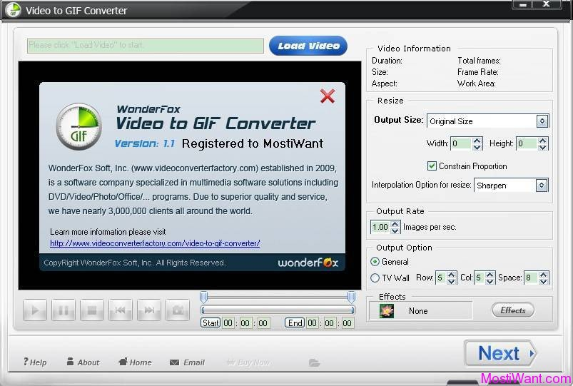 WonderFox Video to GIF Converter