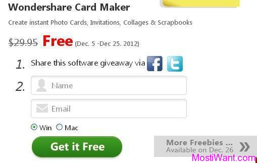 Wondershare Card Maker Christmas Giveaway