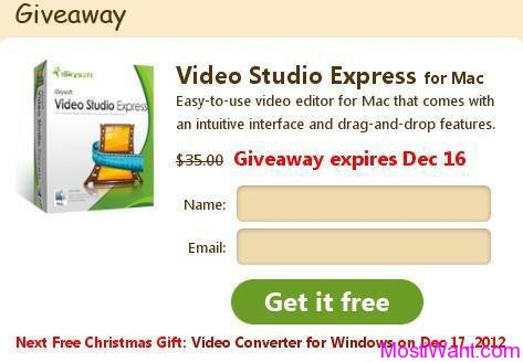iSkysoft Video Studio Express for Mac Christmas Giveaway