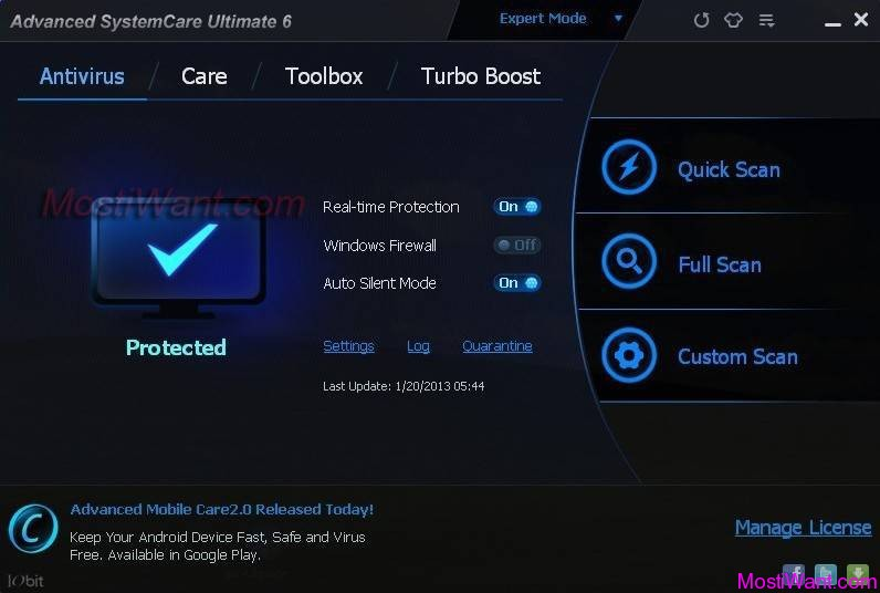 IObit Advanced SystemCare Ultimate 6