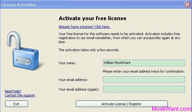 Ocster 1-Click Backup Free License Key