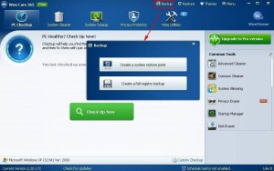 Wise Care 365 Free - Backup & Restore