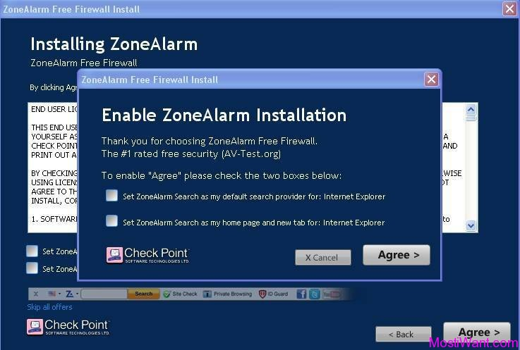 Enable ZoneAlarm Installation