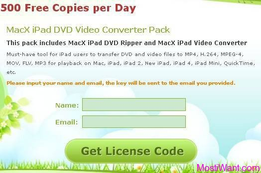 MacX iPad DVD Video Converter Pack Giveaway