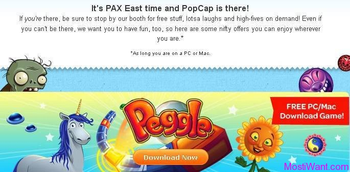 PAX East 2013 Giveaway: Peggle Game Full Version Download Free for PC & Mac