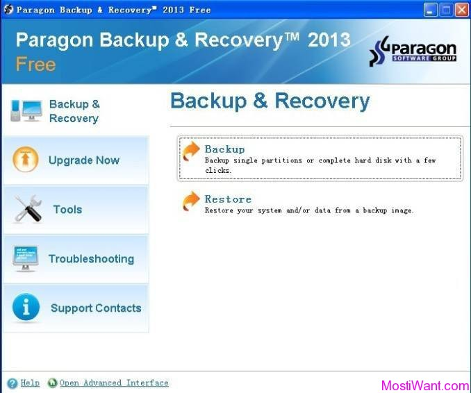 Paragon Backup & Recovery 2013