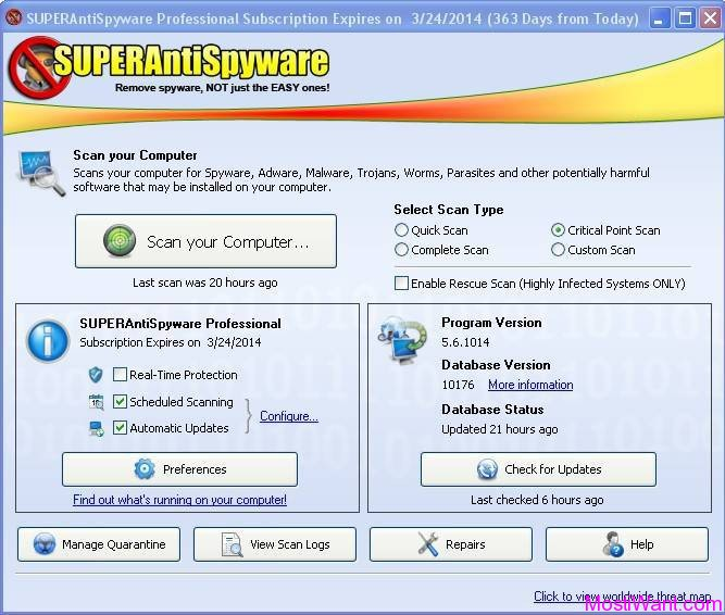SUPERAntiSpyware Professional 5.6