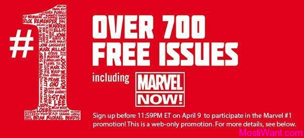 Marvel Once Again Offers Free Download of over 700 Free First Issue Digital Comics