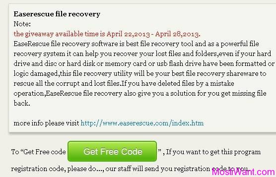 EaseRescue File Recovery Giveaway