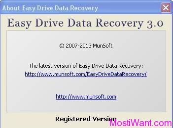 Easy Drive Data Recovery 3.0 Free Full Version
