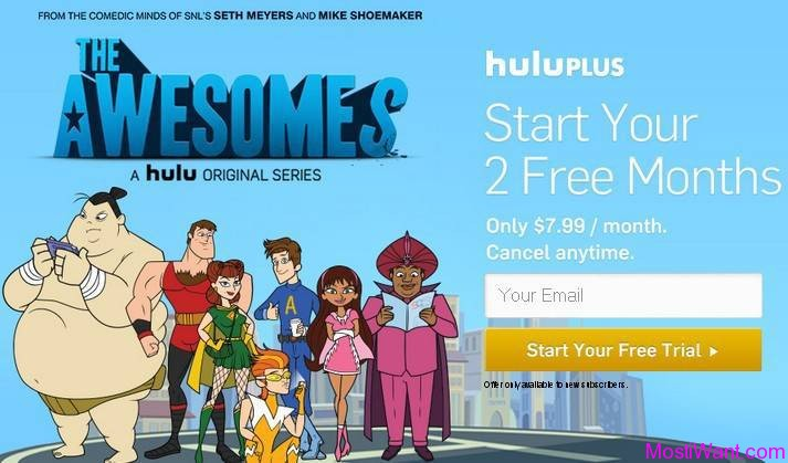 Two Free Month of Hulu Plus