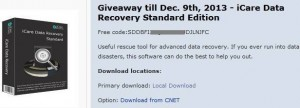 iCare Data Recovery Software 5.3 Giveaway