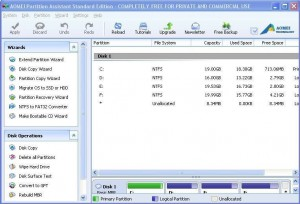 AOMEI Partition Assistant Standard Edition