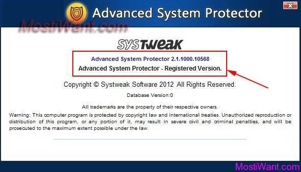 Advanced System Protector Full Version