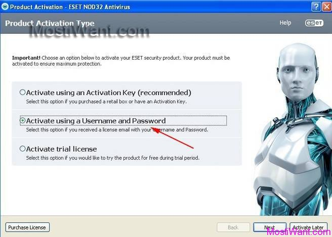 ESET NOD32 Antivirus 6 Activation