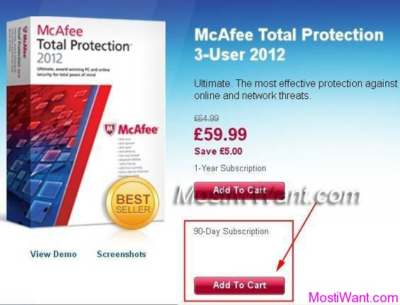McAfee Total Protection 2013 Free Subscription