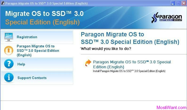 Paragon Migrate OS to SSD 3.0 Special Edition
