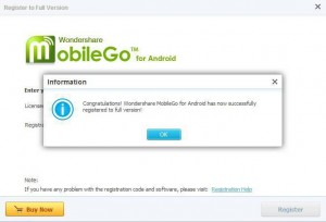 Wondershare MobileGo For Android Giveaway Full Version