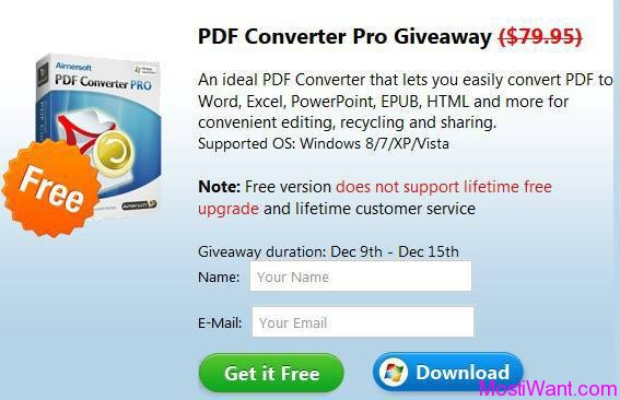 Aimersoft PDF Converter Pro For Free