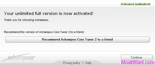 Ashampoo Core Tuner 2 Full Version