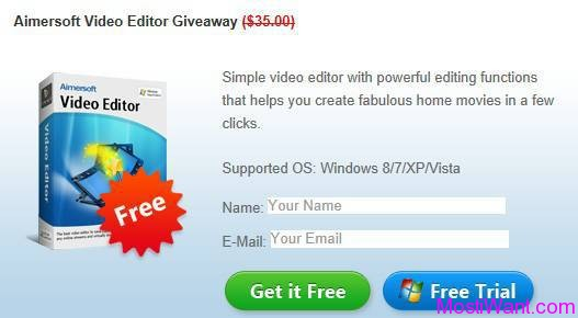 Aimersoft Video Editor Giveaway