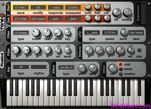 FireBird 2 VSTi Plugin Synth by Tone2