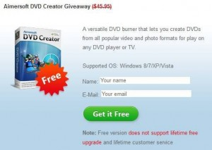 Aimersoft DVD Creator Giveaway