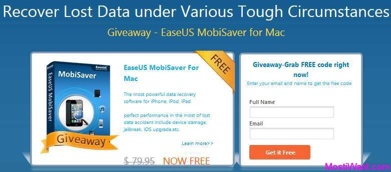 EaseUS MobiSaver for Mac Free Giveaway