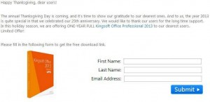 Kingsoft Office Professional 2013 Free Giveaway