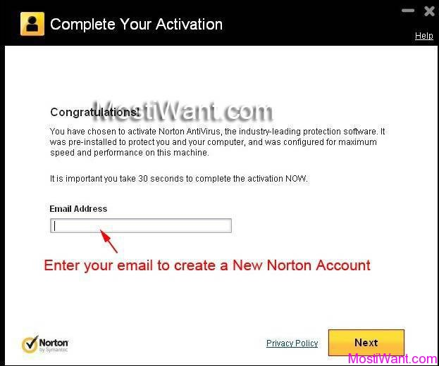 how to download norton with a product key