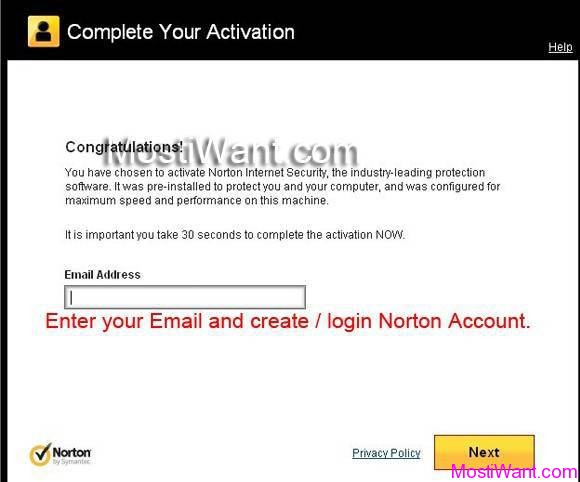 Norton Internet Security 2013 90 Days Trial Activation
