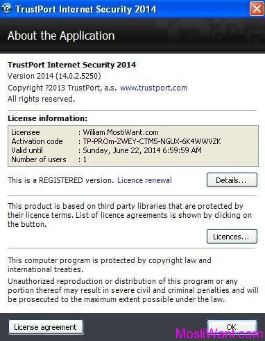 TrustPort Internet Security 2014 SE Free 3 Months
