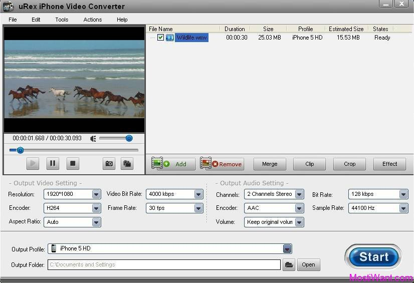 uRex iPhone Video Converter
