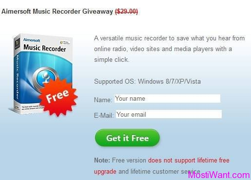 Aimersoft Music Recorder Giveaway