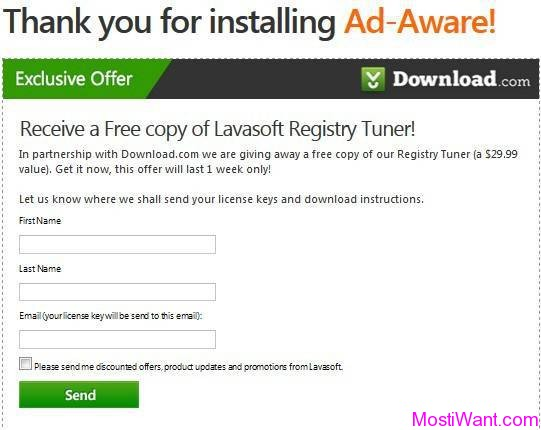 Lavasoft Registry Tuner Free Download