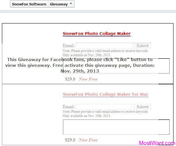 SnowFox Photo Collage Maker Giveaway