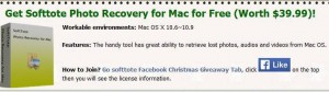 Softtote Photo Recovery for Mac Christmas Giveaway