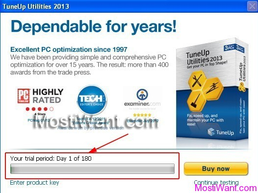 TuneUp Utilities 2013 Free 6 Months Trial
