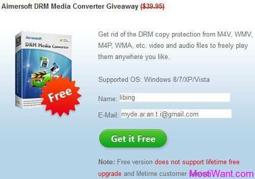 Aimersoft DRM Media Converter Giveaway