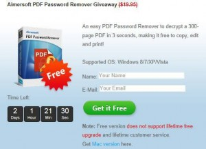 Aimersoft PDF Password Remover Giveaway