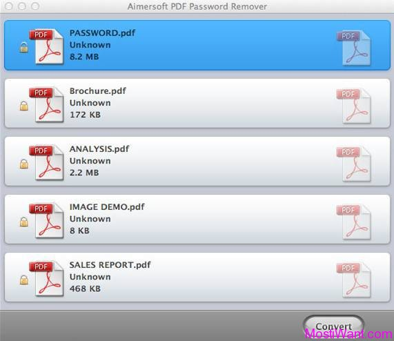 Aimersoft PDF Password Remover for Mac