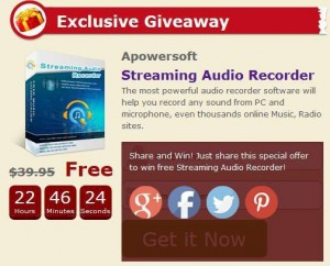 Apowersoft Streaming Audio Recorder Free Giveaway