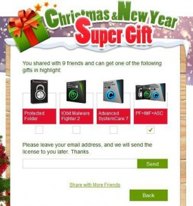 IObit Christmas & New Year Giveaway Step 5